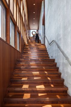 graceful wooden stairs