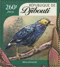 Yellow-faced Myna stamps - mainly images - gallery format