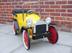 Brum Metal Classic Toy Ride-On Pedal Car - Front Right View by Steve Greaves, via Flickr