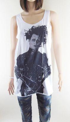 JOHNNY DEPP shirts women tee women tank top dress shirt by chictee, $14.00