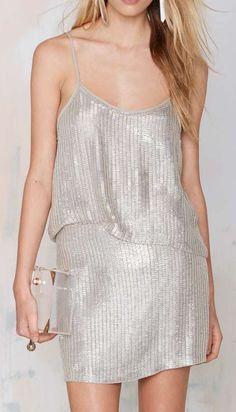 MLV Whitney Metallic Beaded Skirt