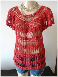 crochet top with diagrams