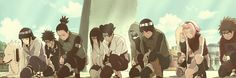 Konoha 11 - Naruto Shippuden (movie 3). Naruto is not here because he was recovering with Sai at the hospital