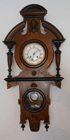intresting vienna type wall clock by gustav becker Old Clocks, Antique Clocks, Clock Shop, Kitchen Clocks, Grandfather Clock, Scroll Saw Patterns, Antiques For Sale, Anaconda, Pocket Watches