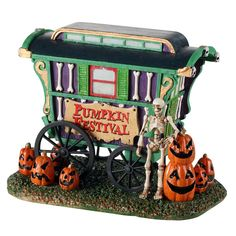 Lemax decorative villages are a holiday tradition made with old-world craftsmanship, combined with new-age technology. Halloween Train, Halloween Village, Halloween Carnival, Halloween Festival, Fall Halloween, Halloween Decorations, Halloween Tricks, Halloween Stuff, Halloween Party