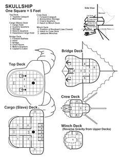 Skullship Deckplans
