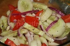 Deep South Dish: Simple Summer Cucumber, Onion and Tomato Salad