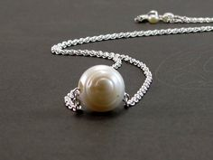 Pearl Necklace Single Baroque Freshwater by RiverGumJewellery, $45.00