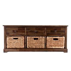 Wildon Home ® Bourke Wood Storage Bench