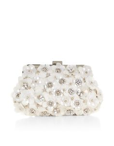 Evie Frame Clutch Bag | Ivory | Accessorize