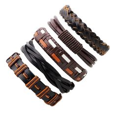 Black Leather Bracelet Men Multilayer Braid Bracelets & Bangles Punk Wrap Bracelets for Women Punk Casual Men Jewelry Braided Bracelets, Bracelets For Men, Fashion Bracelets, Bangle Bracelets, Bangles, Fashion Jewelry, Antique Bracelets, Silicone Bracelets, Vintage Bracelet