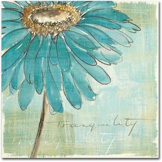 Chris Paschke 'Spa Daisies Iii' Canvas Art (3.255 RUB) ❤ liked on Polyvore featuring home, home decor, wall art, backgrounds, art, flowers, blue, inspirational canvas wall art, trademark fine art and canvas home decor