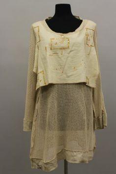 Prisa Collection Berlin Designer Lagenlook Embroidered Crochet Tunic Blouse | eBay
