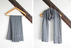 Lace scarf by Emilie #knitting #scarf #accessories