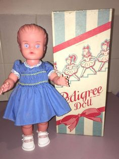I had one of these doll's as a child, l have one now as an adult, sadly not my original on.