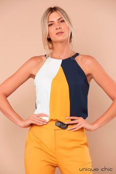 Stylish Work Outfits, Stylish Tops, Cute Outfits, African Print Jumpsuit, Corporate Wear, Work Fashion, Timeless Fashion, Blouse Designs, Casual Wear