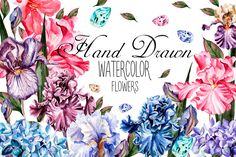 Beautiful watercolor flowers @creativework247