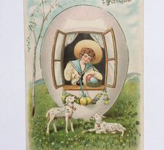 Vintage antique Edwardian surreal Easter by GalabeerandtheDog