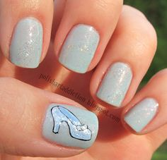 Glass Slipper (Cinderella) Nails