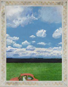 "Nancy told me she called it ""sweet pea"". Canada Landscape, Landscape Art, William Kurelek, Canadian Prairies, Art Gallery Of Ontario, House Painter, Catholic Religion, Canadian Artists, Vincent Van Gogh"