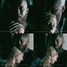Ragnar comforting Lagertha after she lost her baby..