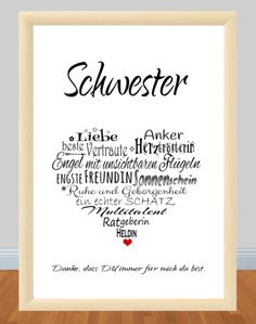 : ** G 244 ** print, motif: ** SISTER ** Her .- Item number: ** G 244 ** print, motif: ** SISTER ** Heart _Because the SISTER is simply the BEST;) _ This print is a great gift for your sister for her birthday, … Birthday Gifts For Bestfriends, Birthday Presents For Girlfriend, Diy Gifts For Dad, Gifts For Your Sister, Diy Gifts For Friends, Presents For Boyfriend, Birthday Gifts For Girlfriend, Diy Presents, Sister Birthday