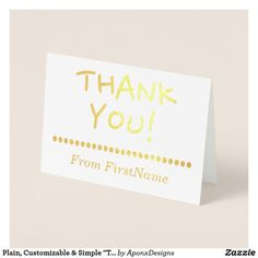 """Shop Minimal, Plain & Customized """"THANK YOU!"""" Card created by AponxDesigns. Paper Envelopes, White Envelopes, Thank You Greeting Cards, Colored Paper, Place Card Holders, Elegant, Simple, Minimal, Prints"""