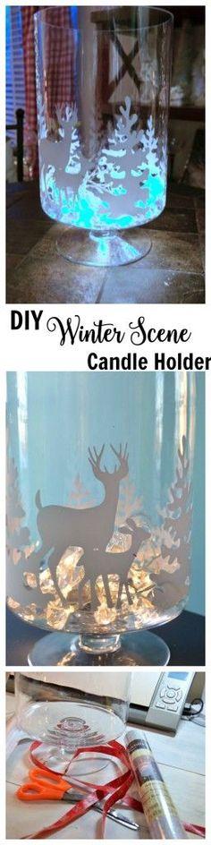 DIY Winter Candle Holder