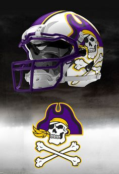 We need more gold Ecu Football, Football Helmet Design, College Football Helmets, Texas Longhorns Football, Sports Helmet, Football Uniforms, Ecu Pirates, Combat Helmet, Custom Helmets