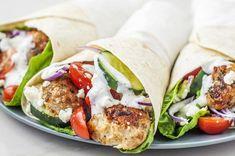 Mediterranean Chicken Kofta Wrap