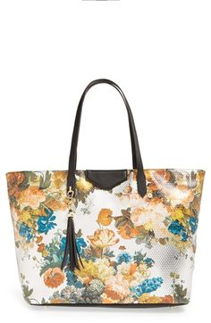 POVERTY FLATS by rian Floral Print Tote available at #Nordstrom