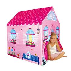 Cottage Playhouse Girl City House Kids Secret Garden Pink Play Tent by PTLF -- More  sc 1 st  Pinterest & kids Play Tent With Tunnel Toys Play House | pop up play tent ...