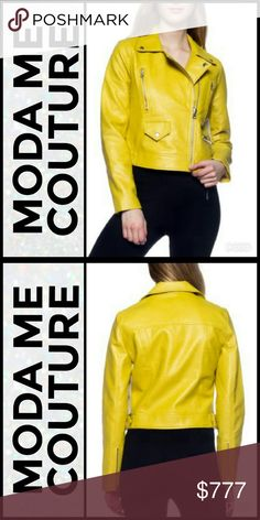NEWFaux leather jacket Brand new Boutique item Price is firm    One of the hottest colors for the season this faux leather jacket is a MUST HAVE! Pair over a tank top with jeans, or with leggings and a sweater or over a dress with heels!   (100% POLYURETHAN) . Jackets & Coats