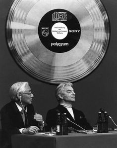 "DID YOU KNOW that Herbert von Karajan really helped develop the CD format? Today, 33 years ago, the CD was presented to the world at a press conference in Salzburg. Karajan, Sony, Philips and Polygram developed the new medium together and the first CD to be manufactured was Herbert von Karajan's rendition of ""An Alpine Symphony"" by Richard Strauss – Copyright/Fotoarchiv: S. Lauterwasser, Herbert von Karajan"