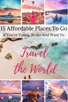 Here are some excellent places you must visit that won't break your pocket! These world-class destinations will give you the biggest bang for your buck once you get there. Go on, take the initiative. #affordableplaces #cheaptravel #budgettravel #cheapdestinations #budgetdestinations #traveltheworld #travelinspiration #beautifulplaces #cheapgetaways #budgetgetaways #affordablegetaways