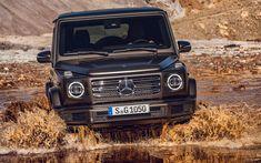 Download wallpapers Mercedes G-Class, offroad, 4k, 2019 cars, river, Gelendvagen, new cars, SUVs, new G-Class, german cars, Mercedes