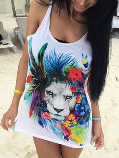 King of Lions Unisex Tank Top