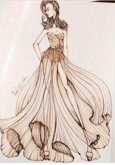 #long dress #brown