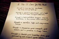 Wedding vows example