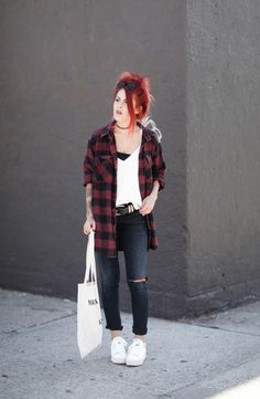 Photos by Christina Emelie  Shirt – The Vintage Twin/ Top –River Island/ Jeans – A Gold E (wearing this style)/ Tote – Maison La Biche/ Shoes – ASH (By Lua P)