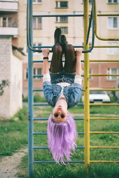 I'd love to do a shoot with a photographer or photographing another cute girl in a fun down old playground!