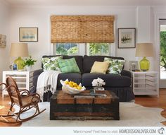 15 Awesome Beachy Living Rooms