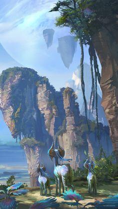 Alien Avatar, Avatar Legend Of Aang, Avatar Movie, Fantasy Art Landscapes, Fantasy Landscape, Mythical Creatures Art, Magical Creatures, Avatar Fan Art, Avatar World