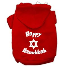 Happy Hanukkah Screen Print Pet Hoodie