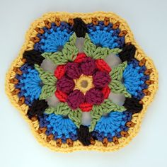 knit & crochet design: Frida's Flowers Block Three & Four