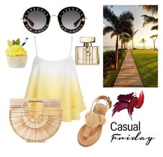 Love summer by baotrannn on Polyvore featuring polyvore, fashion, style, WithChic, Bettye, Cult Gaia, Gucci and clothing