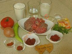 Tavada Lahmacun İçin Gerekli Malzemeler Diy Planters Outdoor, Hummus, Pizza, Beef, Iftar, My Favorite Things, Vegetables, Recipes, Food