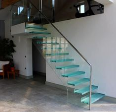 Timber & Glass Stairs are bespoke made by Camel from our Joinery In Wadebridge Cornwall we also offer a full design and installation service Glass Stairs, Joinery, Cornwall, Beach House, Interior Design, Home Decor, Cases, Fresh, Unique