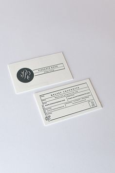 Modern Hand-Lettered Black and White Business Cards by Pinegate Road Designs via Oh So Beautiful Paper (3)