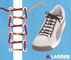Обновите свою обувь в два счета! 10 крутых вариантов завязывания шнурков. | Golbis